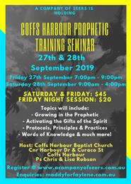 Coffs Harbour Prophetic Training Seminar
