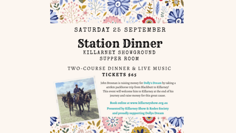 Station Dinner - proudly supporting Dolly's Dream